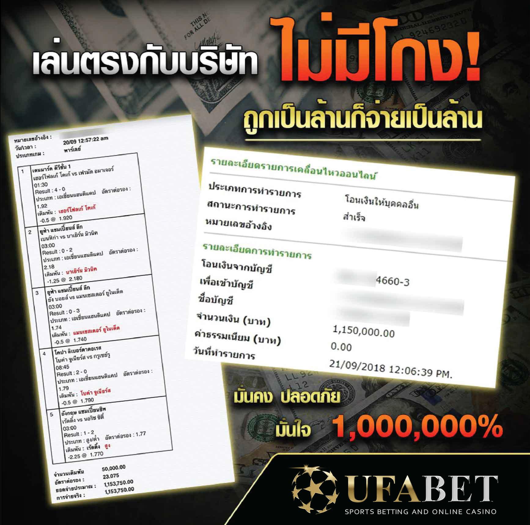 เล่นกับ UFABET ไม่มีโกง